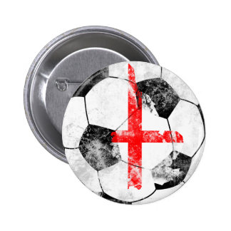 England Distressed Soccer 2 Inch Round Button