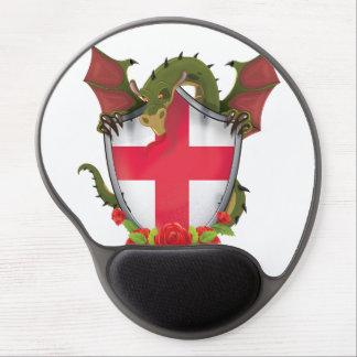 England Dragon and English Flag shield Gel Mouse Pad
