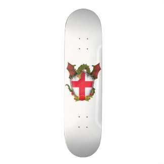 England Dragon and English Flag shield Skateboard Deck
