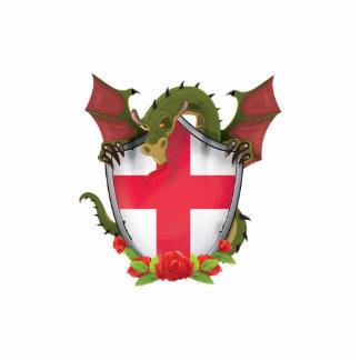 England Dragon and English Flag shield Statuette