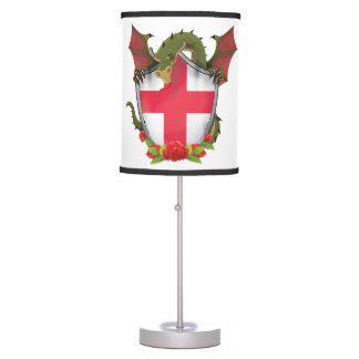 England Dragon and English Flag shield Table Lamp