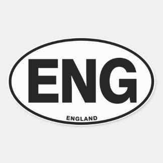 England ENG Oval International Identity Letters Oval Sticker