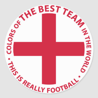 England - England Art Shield Classic Round Sticker