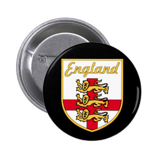 England English 3 Lions Badge or Crest Black Bac Buttons