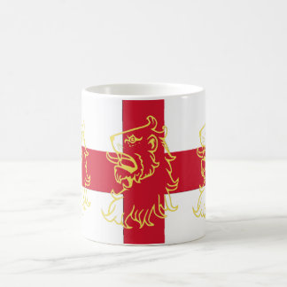 England English Flag Saint George Cross Lions Coffee Mug