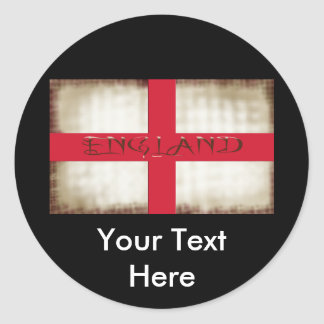 England English Grunge Flag Saint George Cross Classic Round Sticker