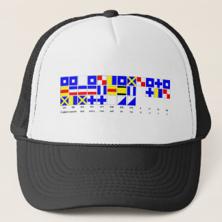 England Expects Hat with Text