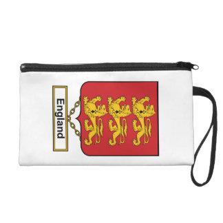 England Family Crest Wristlet Clutch