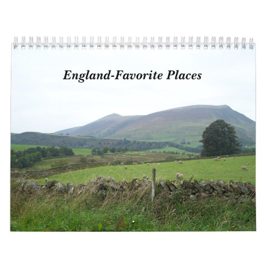 England-Favorite Places Calendar