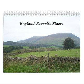 England-Favorite Places Calendar