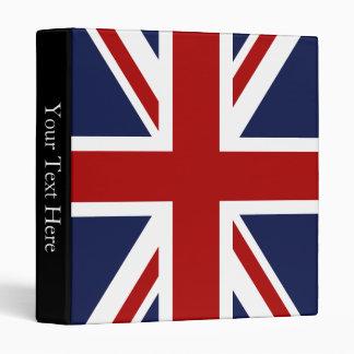 England Flag 3 3 Ring Binder