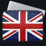 """England Flag 3 Laptop Sleeve<br><div class=""""desc"""">Feel free to modify the design according to your own preferences. You may change the design location, orientation, background colors and size. Also, you may add your own text, or slogan set its font, location and size, all in order to create the ultimate personal gift for you and your loved...</div>"""