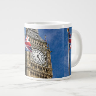 ENGLAND FLAG AND BIG BEN GIANT COFFEE MUG
