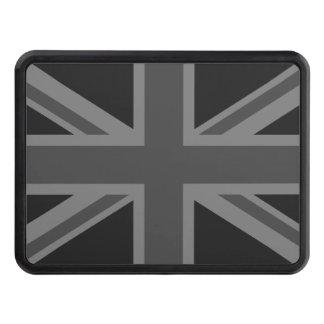 England Flag Black Gray Trailer Hitch Cover