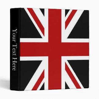 England Flag Black Red White 3 Ring Binder
