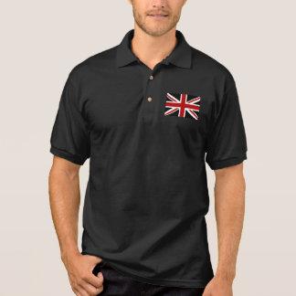 England Flag Black Red White Polo Shirt