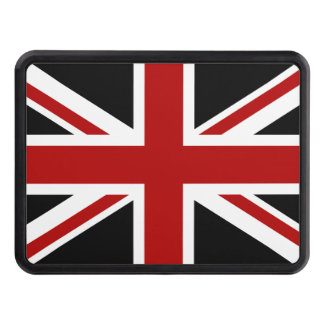England Flag Black Red White Tow Hitch Cover