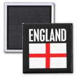England Flag Black Refrigerator Magnet