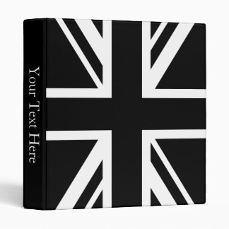 England Flag Black White Binder