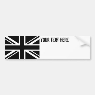 England Flag Black White Bumper Sticker