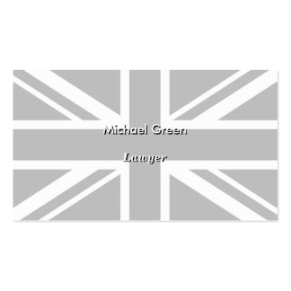 England Flag Black White Double-Sided Standard Business Cards (Pack Of 100)