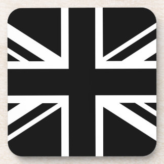 England Flag Black White Drink Coaster