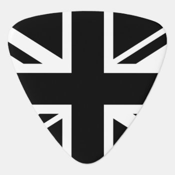 England Flag Black White Guitar Pick by electrosky at Zazzle