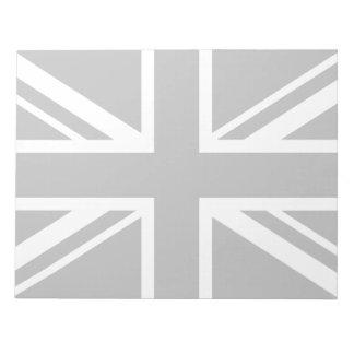 England Flag Black White Notepad