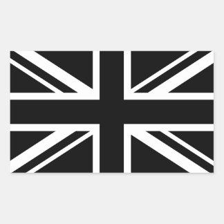 England Flag Black White Rectangular Sticker