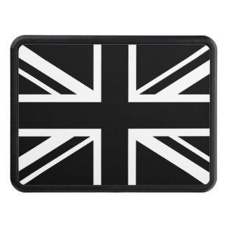 England Flag Black White Tow Hitch Cover