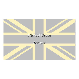 England Flag Black Yellow Double-Sided Standard Business Cards (Pack Of 100)