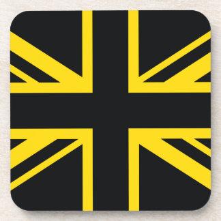 England Flag Black Yellow Coasters