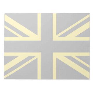 England Flag Black Yellow Notepad