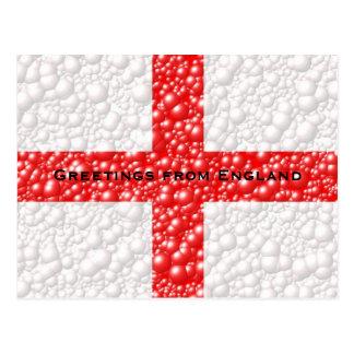 England Flag Bubble Textured Postcard