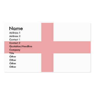 England Flag Double-Sided Standard Business Cards (Pack Of 100)