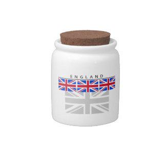 England Flag Candy Jar