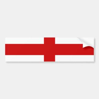England Flag Car Bumper Sticker