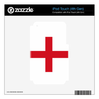 England flag decal for iPod touch 4G