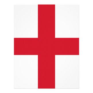 England flag design letterhead