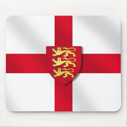 England Flag England Three Lions 2012 Flag Mouse Pad Zazzle