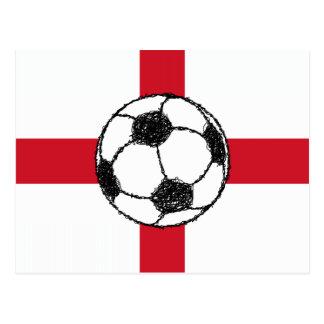 England Flag | Football Ball Postcard