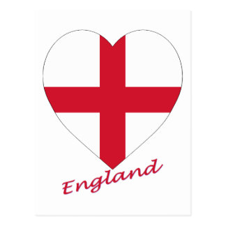 England Flag Heart Postcard