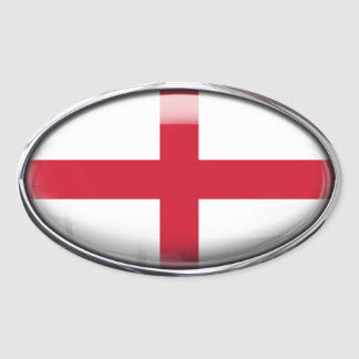 England Flag in Glass Oval (pack of 4) Oval Sticker