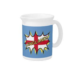 England Flag Kapow Comic Style Star Beverage Pitcher