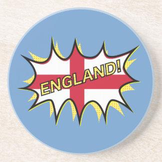 England Flag Kapow Comic Style Star Coaster