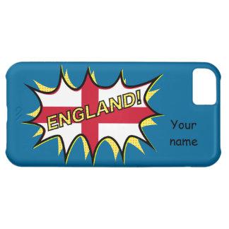 England Flag Kapow Comic Style Star iPhone 5C Case