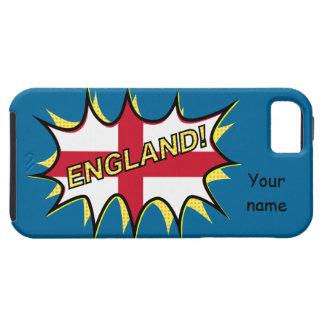 England Flag Kapow Comic Style Star iPhone SE/5/5s Case