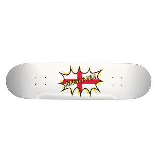 England Flag Kapow Comic Style Star Skateboard Deck