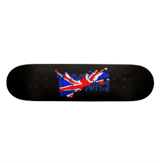 England Flag Map 02 Skateboard