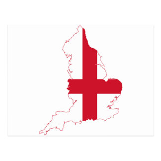 England Flag Map Post Card